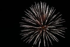 Kanada-Tagesfeuerwerke im Himmel 10 Stockfotografie