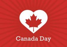 Kanada-Tagesvektor-Illustration Stockbilder