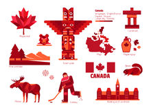 Kanada tecken och symbol, Information-diagram beståndsdelar Royaltyfri Fotografi