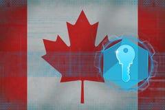Kanada tillträdestangent Internetförsvarbegrepp Arkivfoto