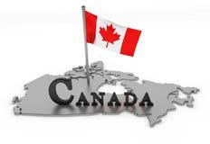 Kanada-Tribut lizenzfreie abbildung