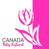 Kanada tulpanfestival Maj festival stock illustrationer