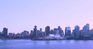 Kanada Vancouver, hamnstad, Nordamerika trans.nav lager videofilmer