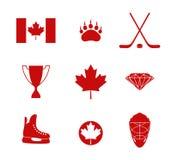 Kanada Vektor i CMYK-funktionsläge Arkivbilder