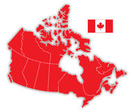 Kanada översikt Arkivbild