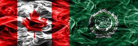 Kanada vs arabförbundetrök sjunker den förlade sidan - förbi - sidan kanadensare royaltyfri fotografi