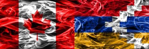 Kanada vs Artsakh rök sjunker den förlade sidan - förbi - sidan Kanadensare och royaltyfria bilder