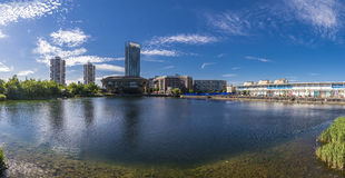 Kanada-Wasser, Stadtbild London Großbritannien Lizenzfreies Stockbild