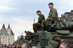 Kanada zaszczyca weteranów które słuzyć w Afganistan zdjęcie royalty free