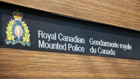 kanadensare monterad poliskunglig person Arkivfoto