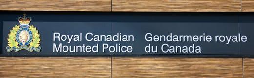 kanadensare monterad poliskunglig person Royaltyfri Bild