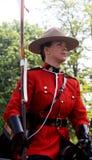 kanadensare monterad poliskunglig person Arkivbild