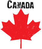 kanadensisk emblemgrunge Royaltyfria Bilder