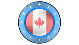 Kanadensisk flagga, illustration Royaltyfri Fotografi