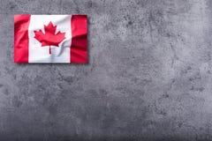 Kanadensisk flagga på konkret bakgrund Royaltyfri Fotografi
