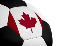 kanadensisk flaggafotboll Arkivfoton