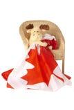 kanadensisk flaggaholdingälg Royaltyfri Fotografi
