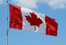 kanadensisk flaggaserie Royaltyfri Foto