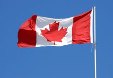 kanadensisk flaggaserie Arkivbild