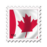 kanadensisk flaggastämpel stock illustrationer