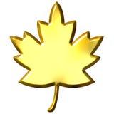 kanadensisk guld- leaf 3d Arkivfoto