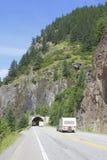 kanadensisk huvudvägrockies tunnel Arkivbilder