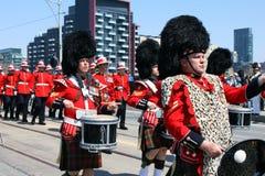 Kanadensisk marschmusikband Royaltyfri Foto