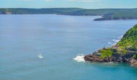 Kanadensisk nationell historisk plats, fort Amherst i St John & x27; s Newfoundland, Kanada Arkivbild