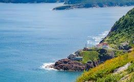 Kanadensisk nationell historisk plats, fort Amherst i St John & x27; s Newfoundland, Kanada Royaltyfria Bilder
