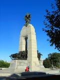 Kanadensisk nationell krigminnesmärke i Ottawa, Ontario Royaltyfri Foto