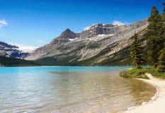 Kanadensisk panorama för steniga berg, pilbåge sjö Royaltyfri Foto