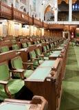 Kanadensisk parlament: huset av allmänningar Arkivbild