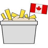 Kanadensisk poutine Royaltyfri Bild