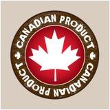 Kanadensisk produktetikettvektor Fotografering för Bildbyråer