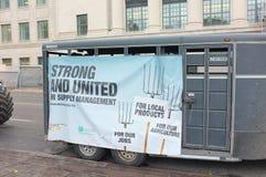 Kanadensisk protest för mejeribönder Royaltyfri Fotografi