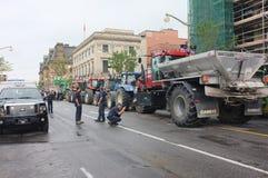 Kanadensisk protest för mejeribönder Royaltyfri Foto