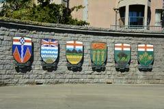 Kanadensisk provinsiell vapensköld Arkivfoto