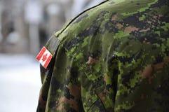 Kanadensisk soldat Standing Guard Royaltyfri Bild