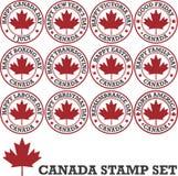 Kanadensisk stämpeluppsättning Arkivbilder