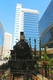 Kanadensisk Stillahavs- järnväg lokomotiv 29 i Calgary Arkivbild