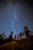 Kanadensisk Vintergatan i himlen royaltyfria bilder