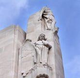 kanadensiska den vimy france minnes- kanten kriger Arkivbild