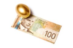 kanadensiska dollar Fotografering för Bildbyråer