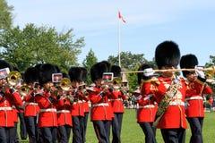 Kanadensiska Grenadiervakter ståtar på i Ottawa, Kanada Fotografering för Bildbyråer