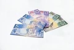 kanadensiska pengar Arkivfoto