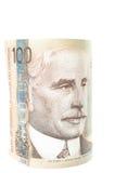 Kanadensiska pengar, pappers- version Arkivfoton
