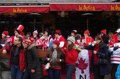 Kanadensiska sportfans Royaltyfria Bilder