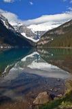 Kanadensiskt berg. Lake Agnes Fotografering för Bildbyråer