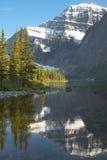 Kanadensiskt landskap med monteringen Edith Cavell jasper albertan Arkivfoton