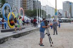 Kanadensiskt massmedia under Rio Olympic Royaltyfria Foton